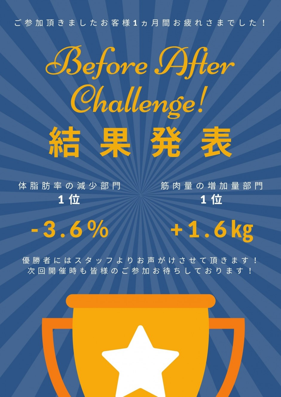Before After Challenge 結果発表✨